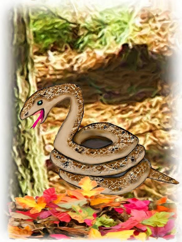 SnakewLeaves_Painting
